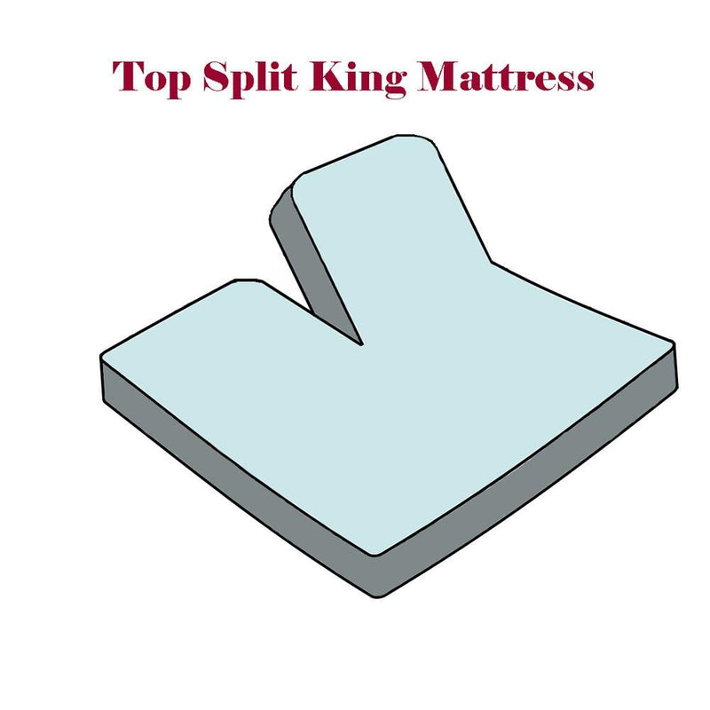 Top Split Flex King Fitted Sheet Only - Solid 340 Thread Count-Royal Tradition-Egyptian Linens