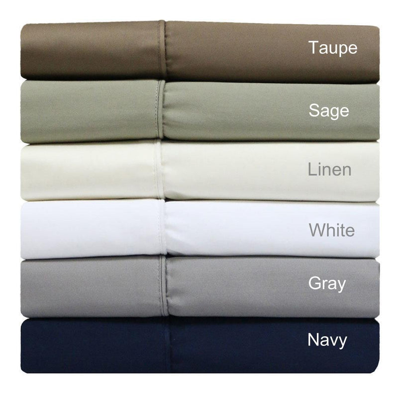 Split Top King Sheets 300 Thread Count 100% Cotton (Half Split Fitted)-Royal Tradition-Egyptian Linens