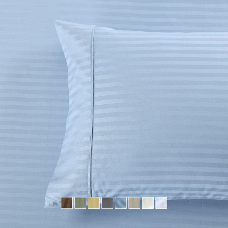 Easy Care 650 Stripe Pillowcases (Pair)-Royal Tradition-Egyptian Linens