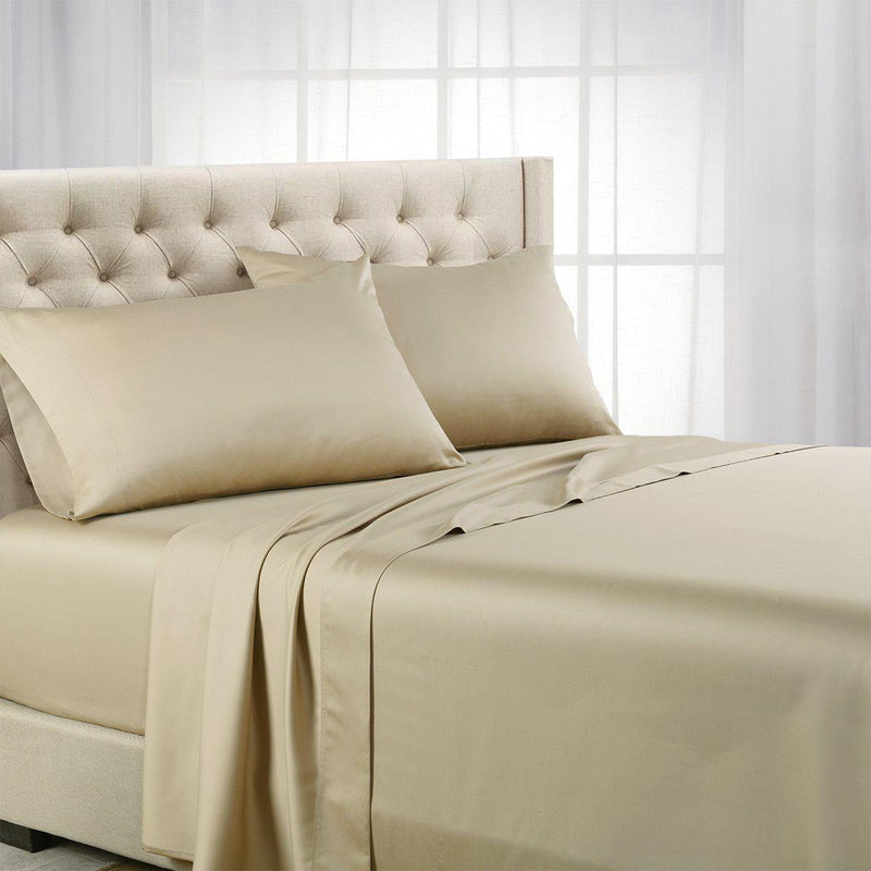Luxurious Cooling Sheet Set - Eucalyptus 600 Tencel Lyocell-Abripedic-Twin XL-Taupe-Egyptian Linens