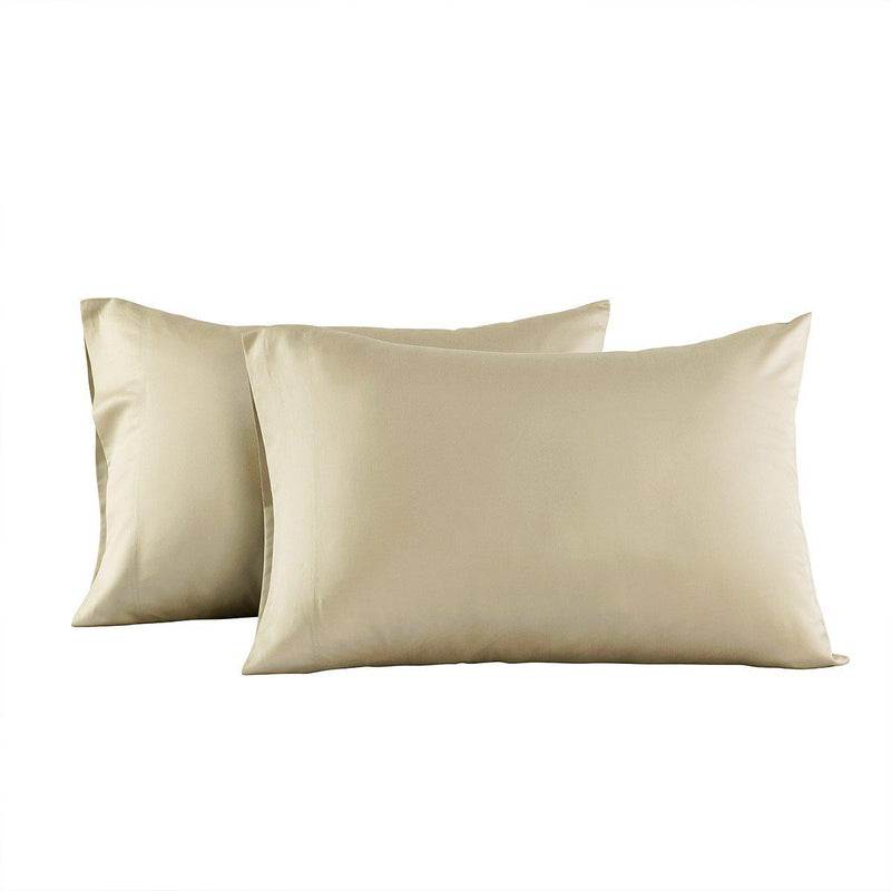 Eucalyptus 600 Tencel Loycell Pillowcases (Pair)-Abripedic-Standard Pillowcases Pair-Taupe-Egyptian Linens
