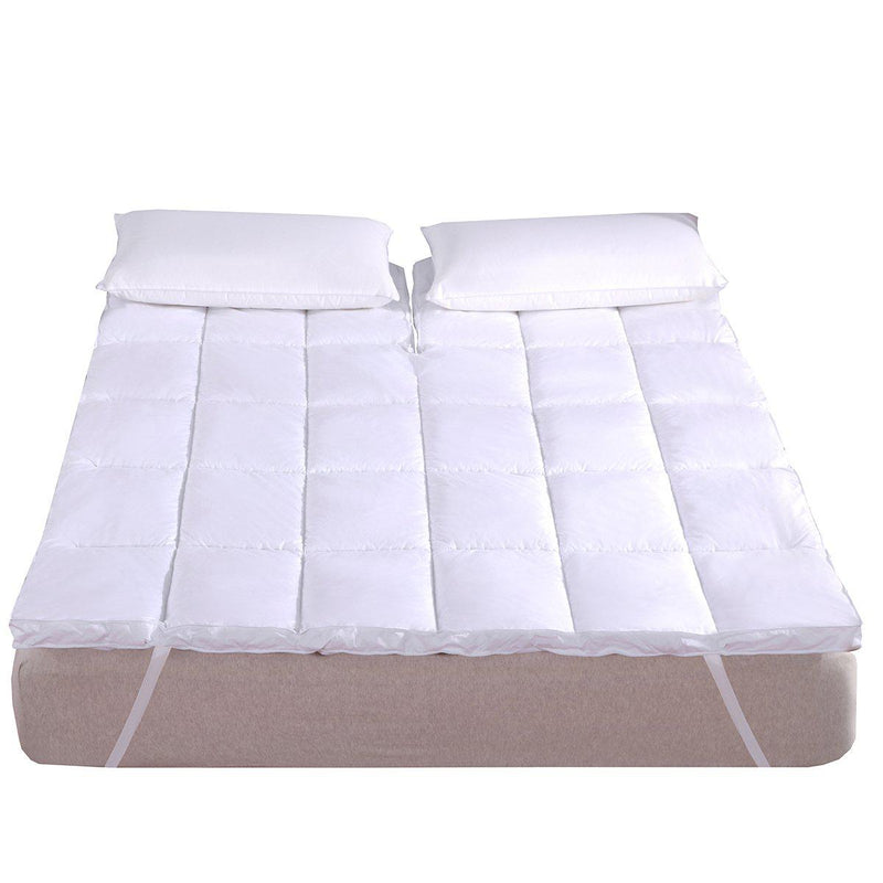 Top Split King ( Flex King ) 2 Inch Thick Mattress Topper 100% Cotton Shell-Abripedic-Egyptian Linens