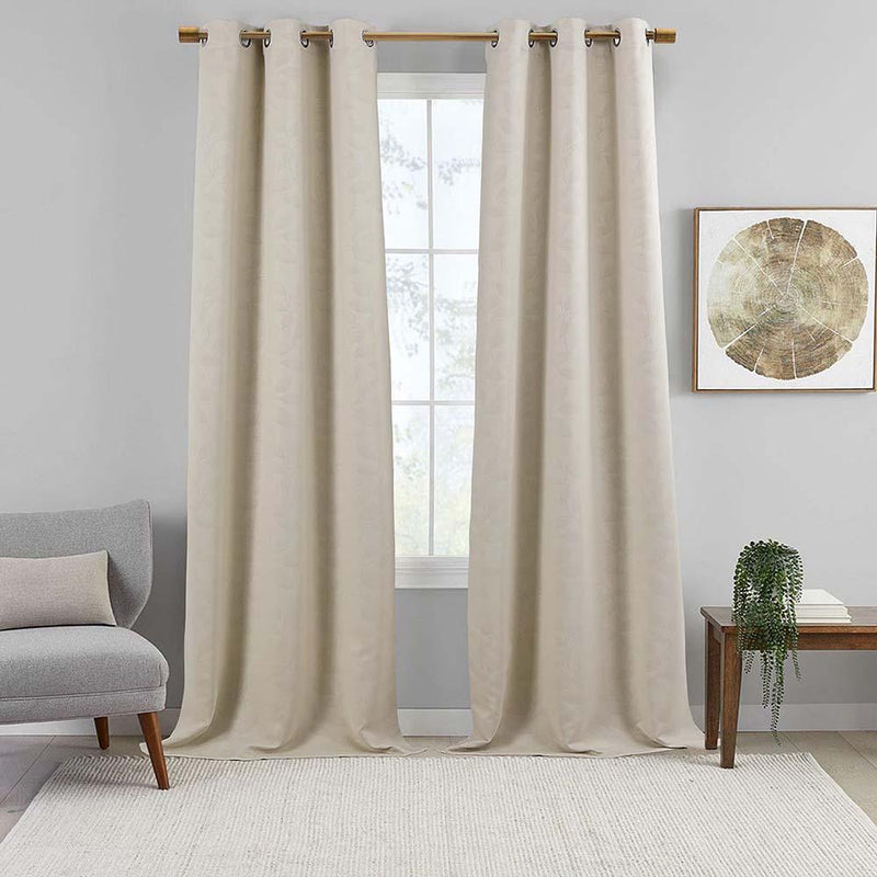 Virginia Blackout Weave Grommet Curtain Panels (Set of 2)