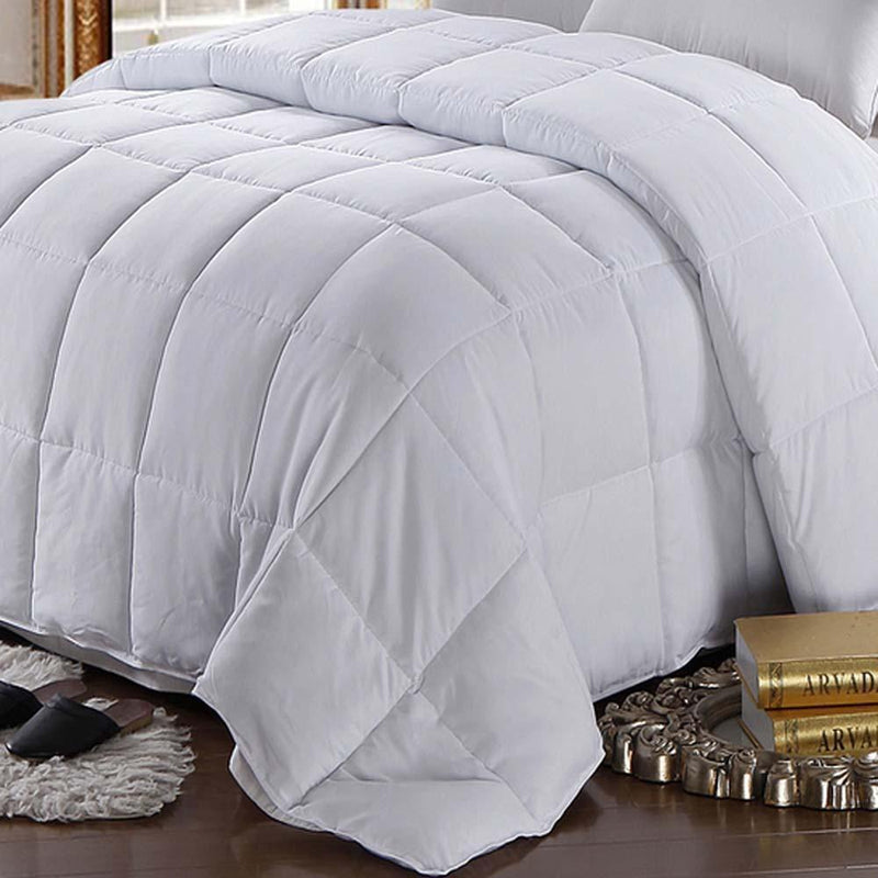Hypoallergenic Goose Down Feathers Comforter/Duvet Insert-Royal Hotel Bedding-Egyptian Linens