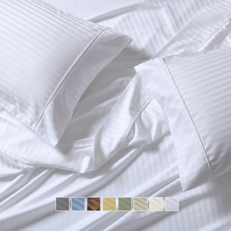 Extra Deep Pockets (22 inches) Stripe 650 Easy Care Sheet sets-Royal Tradition-Egyptian Linens