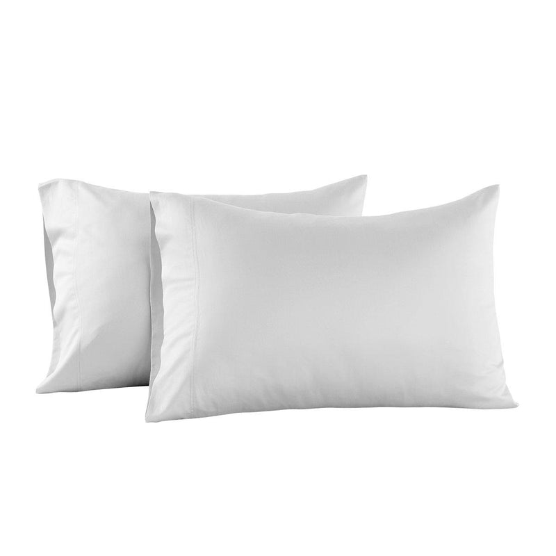 Eucalyptus 600 Tencel Loycell Pillowcases (Pair)-Abripedic-Standard Pillowcases Pair-White-Egyptian Linens