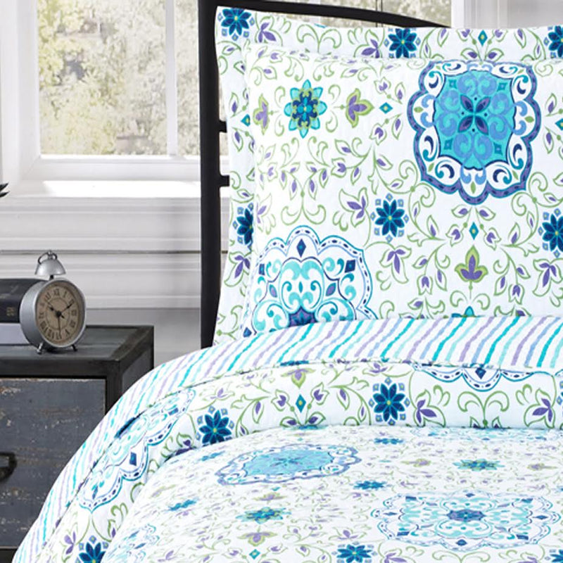 Arielle Wrinkle-Free Quilts Oversized In Twin, Queen or King Quilt Sets-Royal Tradition-Egyptian Linens