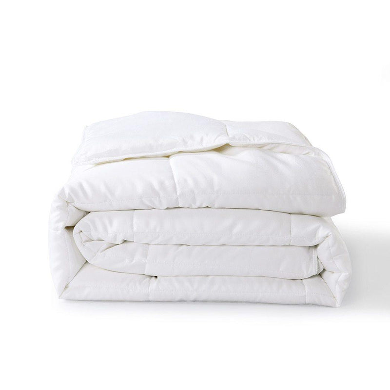 Bamboo Filled Blanket 300 Thread Count 100% Cotton Sateen White Shell-Wholesale Beddings