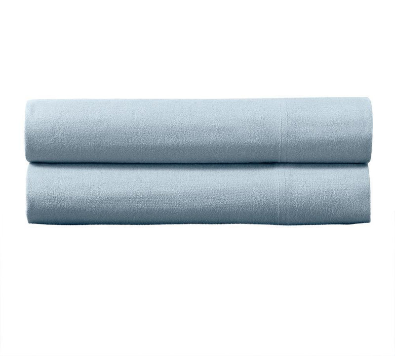 Heavyweight Flannel Pillowcase Set (Pair)-Royal Tradition-Standard Pillowcases Pair-Blue-Egyptian Linens