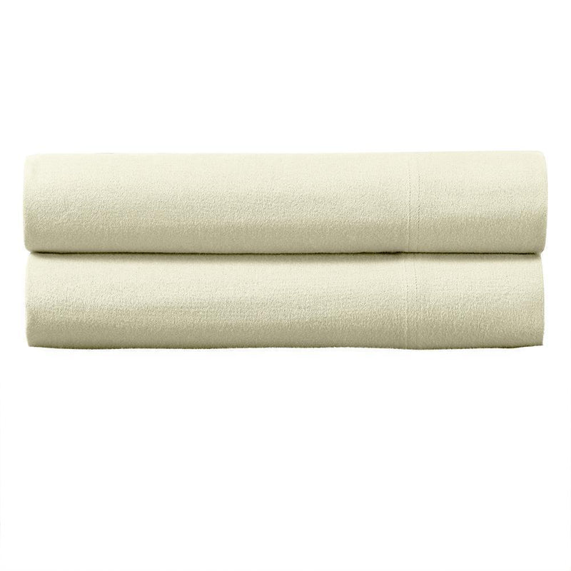 Heavyweight Flannel Pillowcase Set (Pair)-Royal Tradition-Standard Pillowcases Pair-Ivory-Egyptian Linens