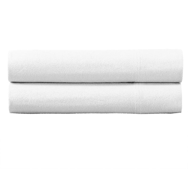 Heavyweight Flannel Pillowcase Set (Pair)-Royal Tradition-Standard Pillowcases Pair-White-Egyptian Linens
