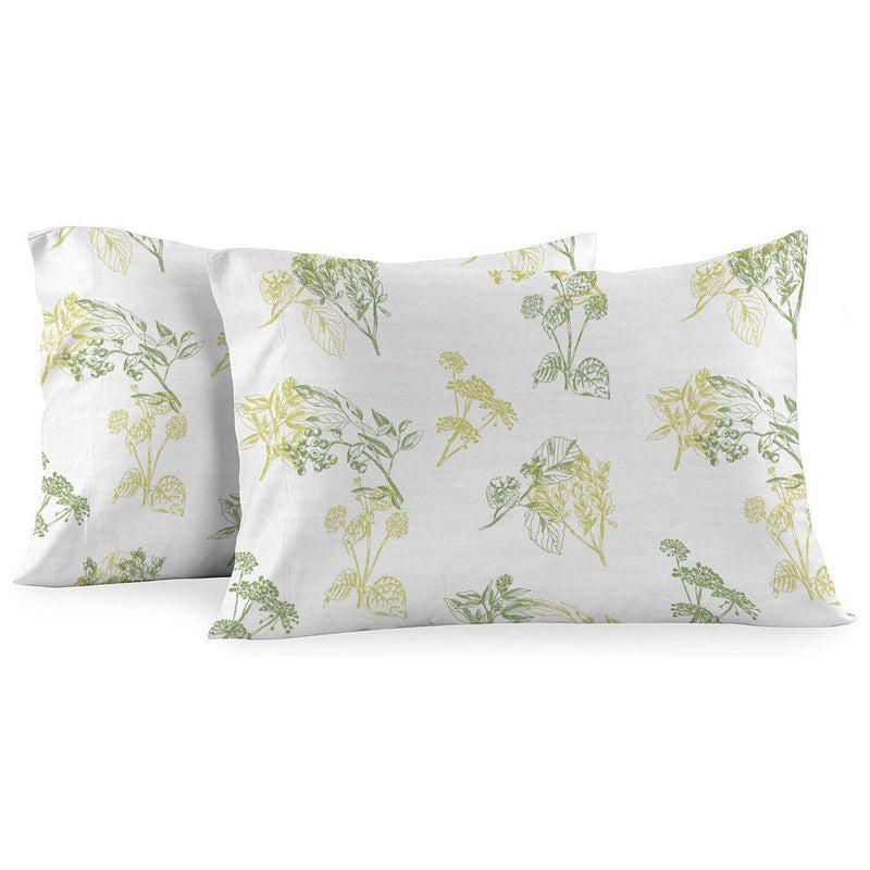 Heavyweight Printed Flannel Pillowcase Sets (Pair) - Hedgerow-Egyptian Linens
