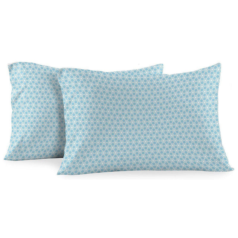 Heavyweight Printed Flannel Pillowcase Sets (Pair) - Snow-Egyptian Linens