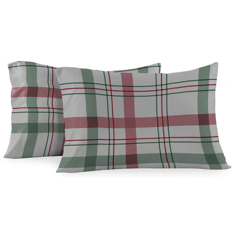 Heavyweight Printed Flannel Sheets 170GSM - Dessines Plaid-Egyptian Linens
