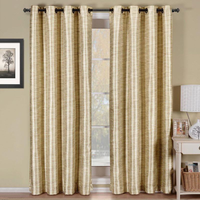 "Geneva Lined Energy Saving Black-Out Grommet Curtain Panel Single-Royal Tradition-52 x 84"" Panel-Ivory-Egyptian Linens"
