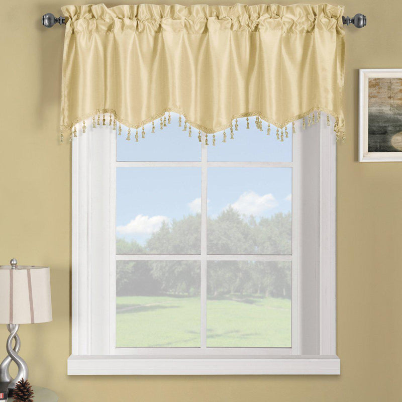 "Soho Straight Valance 70""Wx17""L (Single)-Royal Tradition-Ivory-Egyptian Linens"
