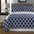 Duvet Cover Set - Meridian-Royal Tradition-Twin/Twin XL-Navy/White-Egyptian Linens