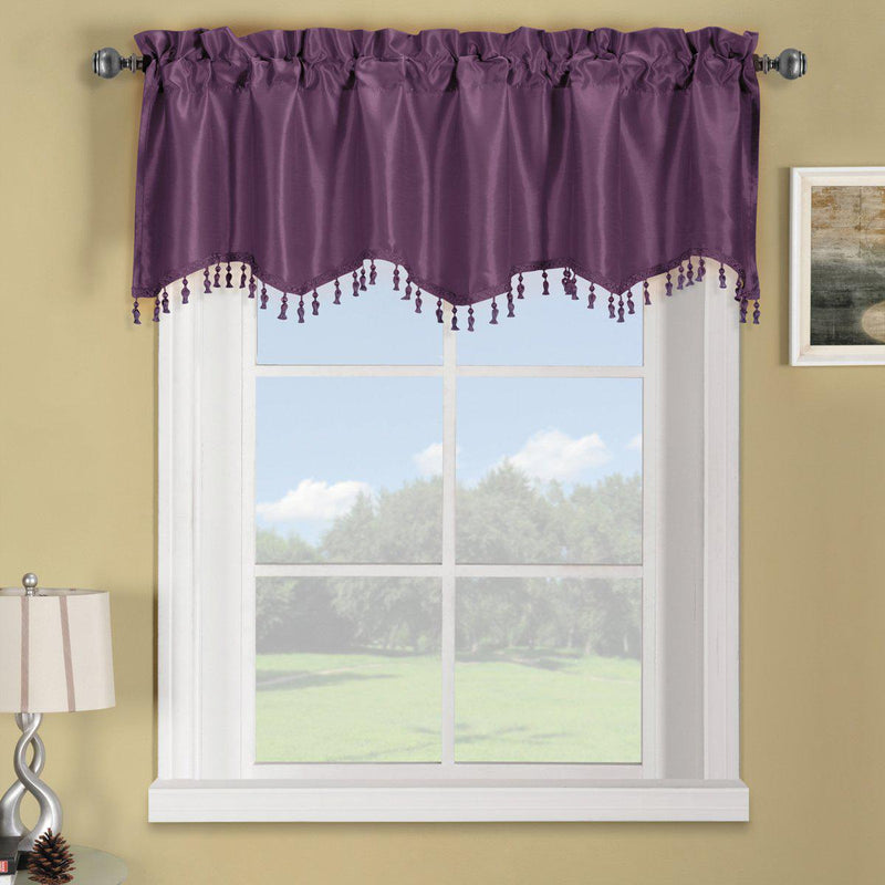 "Soho Straight Valance 70""Wx17""L (Single)-Royal Tradition-Purple-Egyptian Linens"