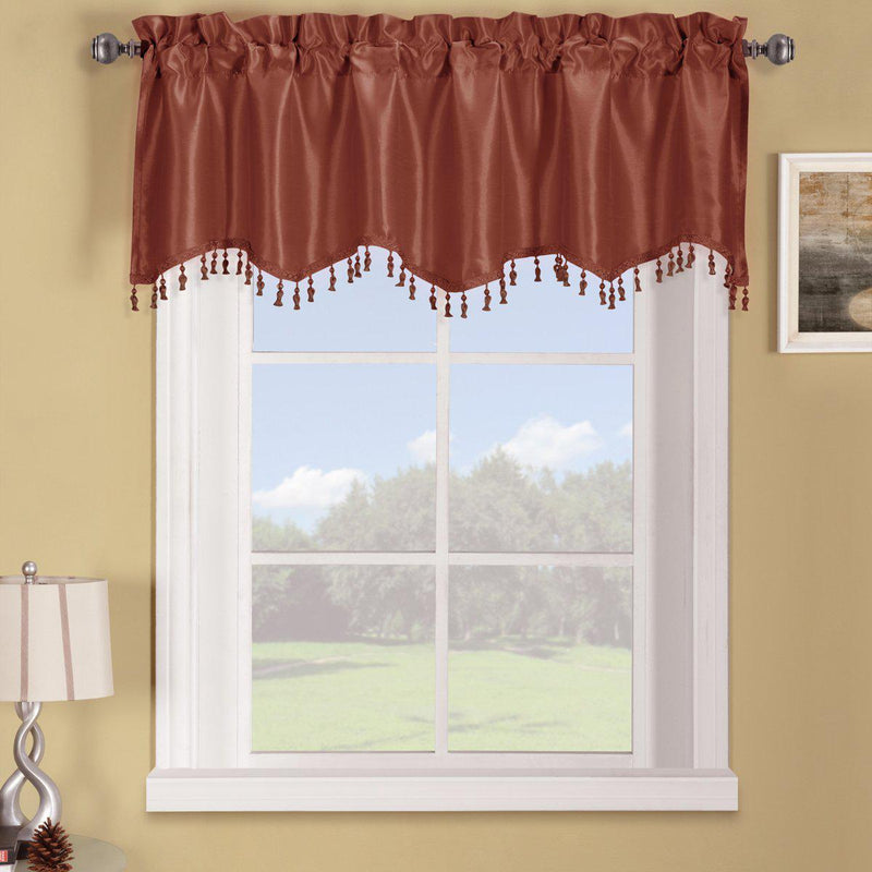 "Soho Straight Valance 70""Wx17""L (Single)-Royal Tradition-Rust-Egyptian Linens"