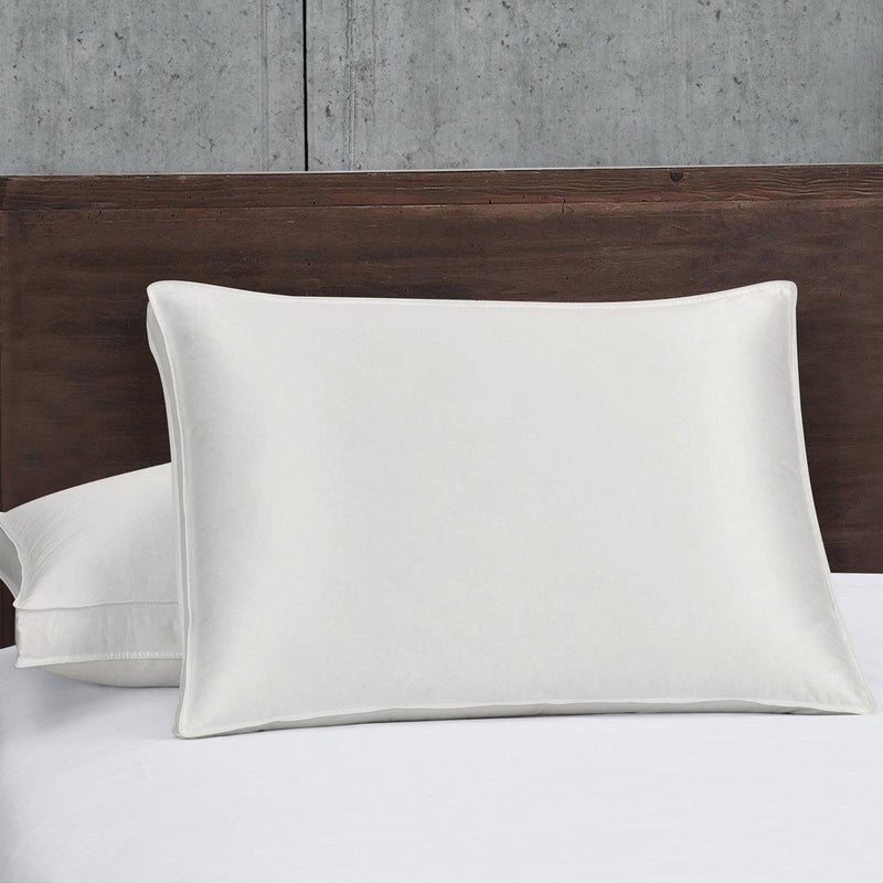 Silk Goose Down Pillow - Firm Support-Pillows-Egyptian Linens-Standard/Queen (Single)-Egyptian Linens