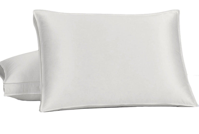 Silk Goose Down Pillow - Firm Support-Pillows-Egyptian Linens-Egyptian Linens