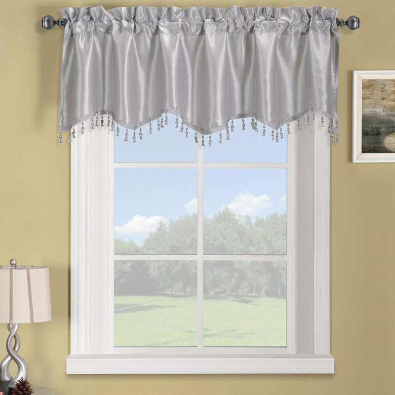 "Soho Straight Valance 70""Wx17""L (Single)-Royal Tradition-Silver-Egyptian Linens"