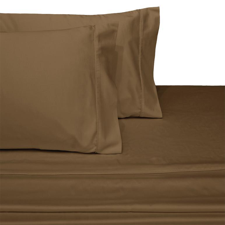 Olympic Queen Sheet Set - Solid 600 Thread Count-Royal Tradition-Taupe-Egyptian Linens