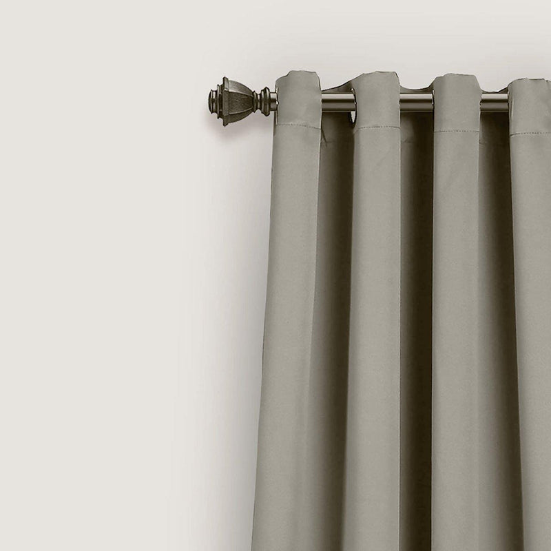 "Grey Room Darkening Curtain Panel Pair - 55"" W X 98"" L Each Panel-Royal Tradition-Egyptian Linens"