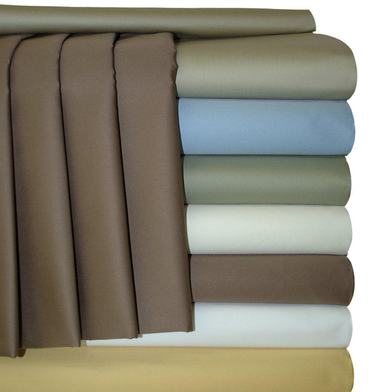 Extra Deep Pockets (22 inches) Sheet Set - Solid 300 Thread Count-Royal Tradition-Egyptian Linens