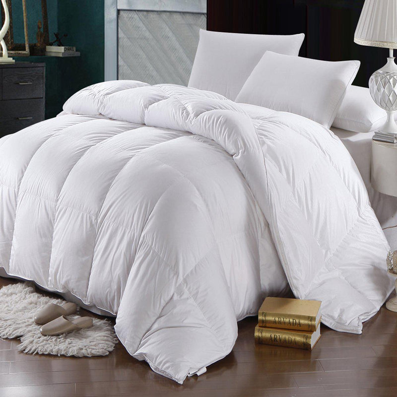 600 Thread Count Goose Down Comforter-Egyptian Linens-Full/Queen-Egyptian Linens