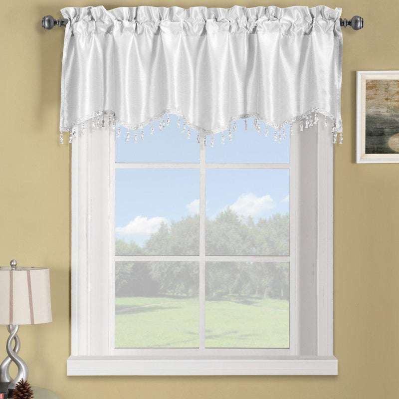 "Soho Straight Valance 70""Wx17""L (Single)-Royal Tradition-White-Egyptian Linens"