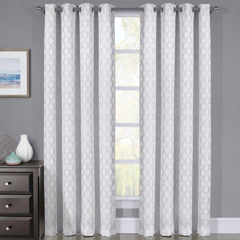 White Rosaline Curtain image