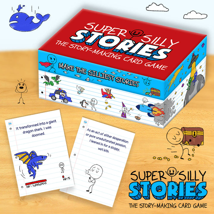 Super Silly Stories - Card Game! (Comes with FREE Signed Poster)