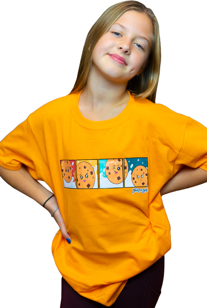 Orange Milk & Cookies T-shirt