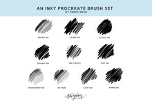 Load image into Gallery viewer, 10 Drawing and Writing Ink Procreate Brushes - Variety of Ink Styles for iPad Artwork