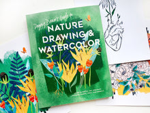 Load image into Gallery viewer, Peggy Dean's Guide to Nature Drawing & Watercolor: Learn to Sketch, Ink, and Paint Flowers, Plants, Trees and Animals | Paperback
