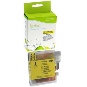FUZION LC61YCO - CARTOUCHE D'ENCRE JAUNE (compatible Brother LC61Y)