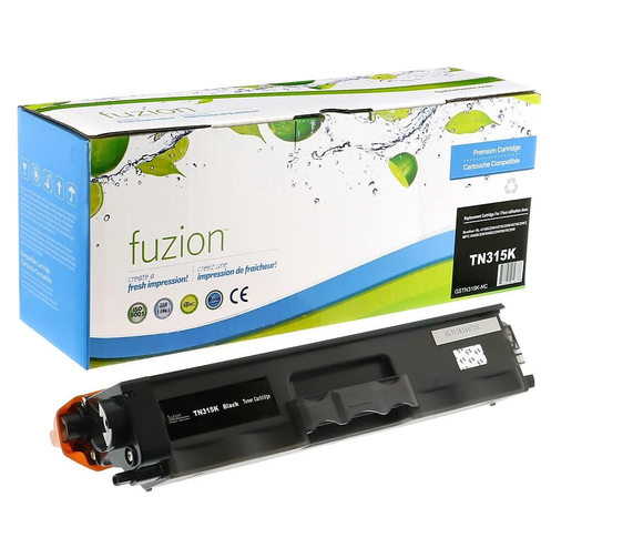 FUZION TN315BKCO - CARTOUCHE DE TONER NOIR À HAUT RENDEMENT (compatible Brother TN315BK)