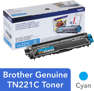 BROTHER TN221C - CARTOUCHE DE TONER CYAN À HAUT RENDEMENT
