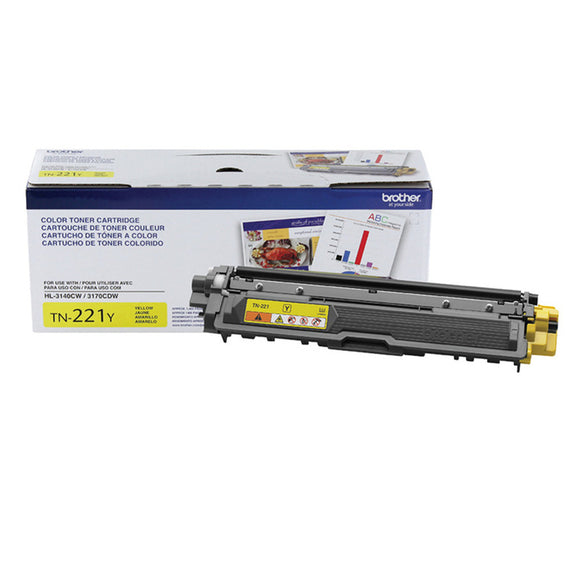 BROTHER TN221Y - CARTOUCHE DE TONER JAUNE À RENDEMENT STANDARD