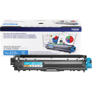 BROTHER TN225C- CARTOUCHE DE TONER CYAN À HAUT RENDEMENT