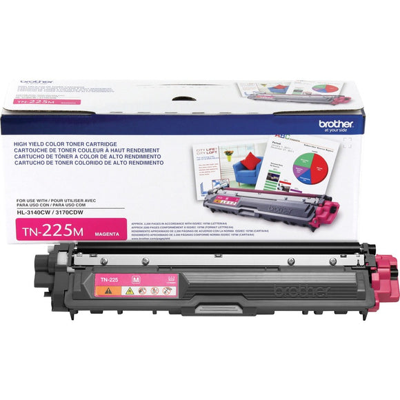 BROTHER TN225M - CARTOUCHE DE TONER MAGENTA À HAUT RENDEMENT