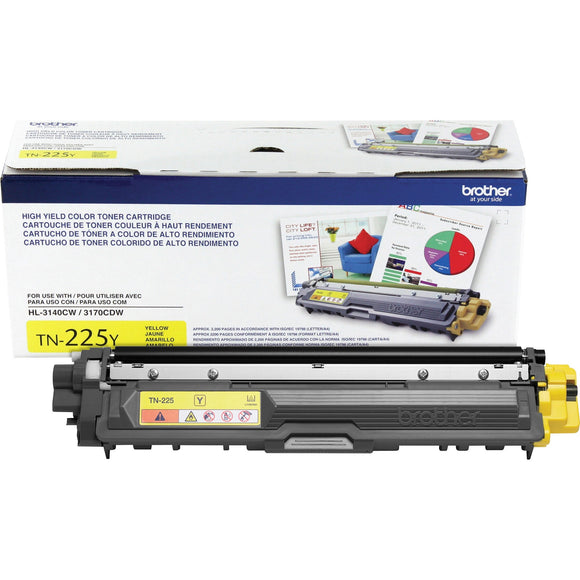 BROTHER TN225Y - CARTOUCHE DE TONER JAUNE À HAUT RENDEMENT