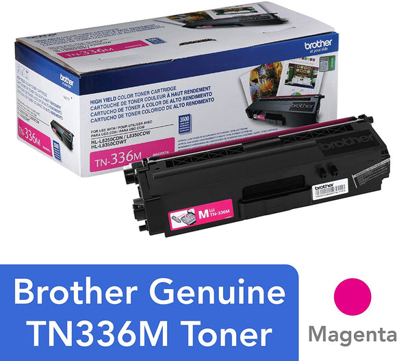 BROTHER TN336M - CARTOUCHE DE TONER MAGENTA À HAUT RENDEMENT