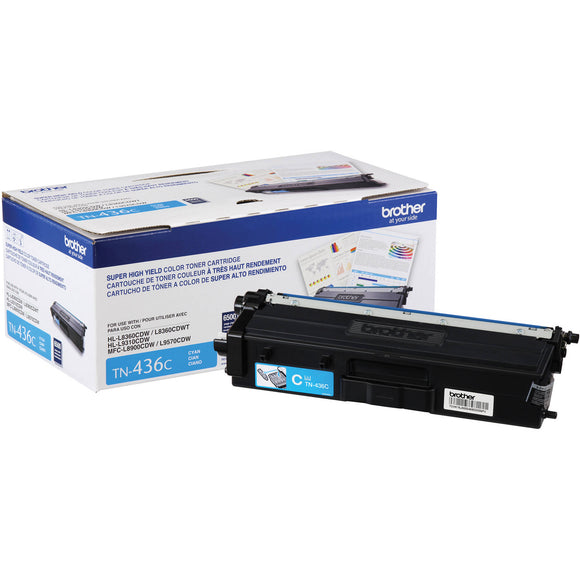 BROTHER TN433C - CARTOUCHE DE TONER CYAN À HAUT RENDEMENT