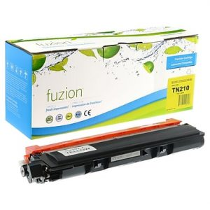 FUZION TN210YCO - CARTOUCHE DE TONER JAUNE À RENDEMENT STANDARD(compatible Brother TN210Y)