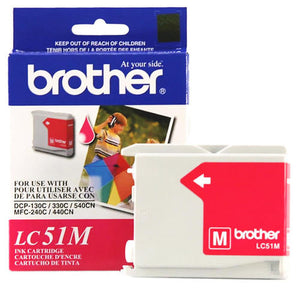 BROTHER LC51M - CARTOUCHE D'ENCRE MAGENTA INNOBELLA, À RENDEMENT STANDARD
