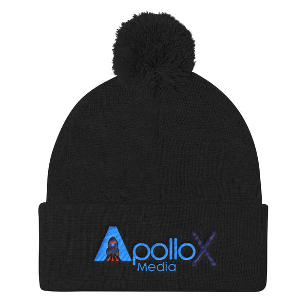 ApolloX Media Pom Pom Knit Cap