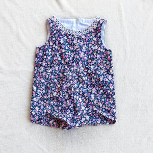 0-3 Months 'Purple Flowers' Romper