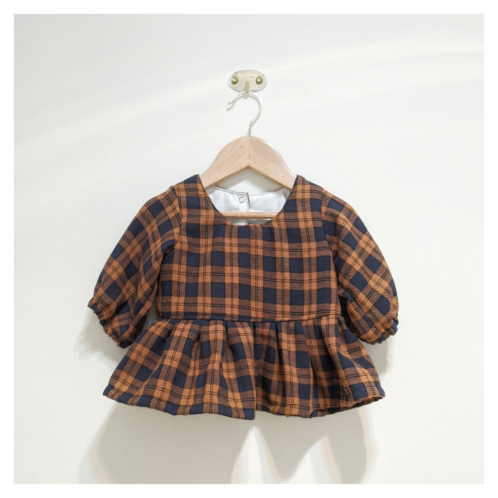*Size 2* Tan Flannel Top